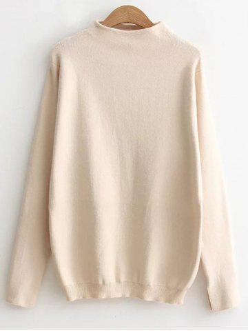 Best Stretchy Pullover Knitwear BEIGE ONE SIZE
