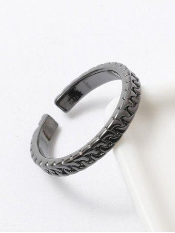 Online Polished Roman Cuff Ring GUN METAL