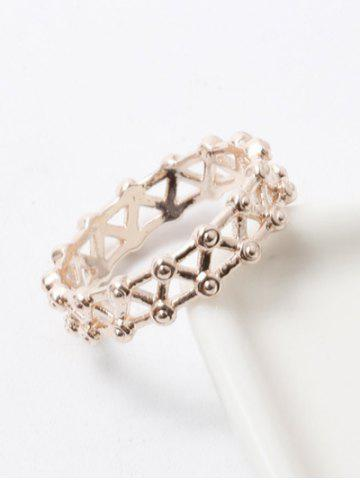 Discount Filigree Rivet Criss Cross Ring CHAMPAGNE