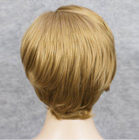 Affordable Short Straight Mixed Color Lace Front Synthetic Wig - COLORMIX  Mobile