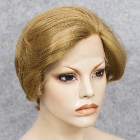 Cheap Short Straight Mixed Color Lace Front Synthetic Wig - COLORMIX  Mobile
