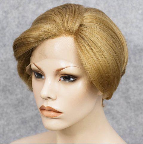 Outfit Short Straight Mixed Color Lace Front Synthetic Wig - COLORMIX  Mobile