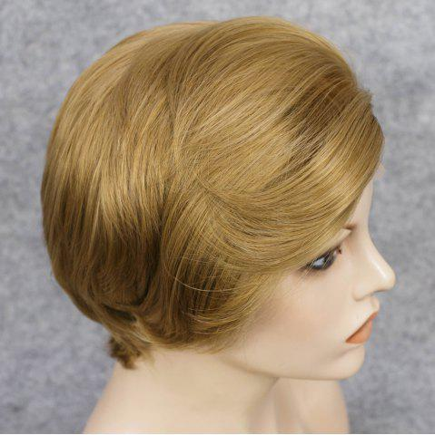 Latest Short Straight Mixed Color Lace Front Synthetic Wig - COLORMIX  Mobile
