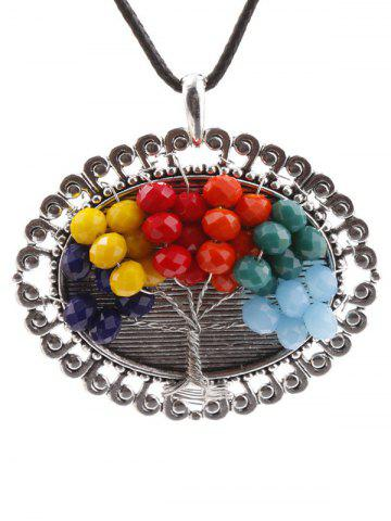 Hot Handmade Multicolor Beaded Tree Necklace