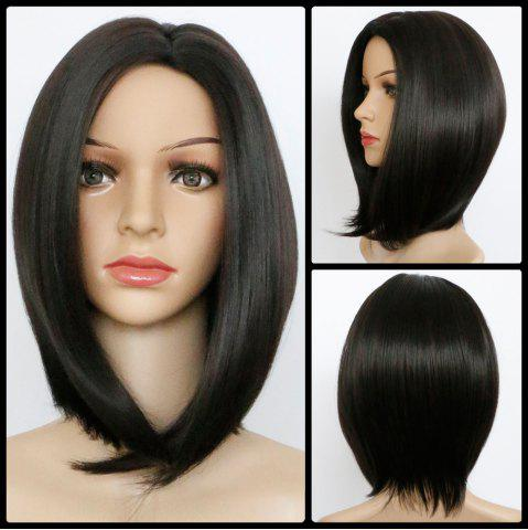 Hot Medium Silky Straight Centre Parting Bob Synthetic Wig