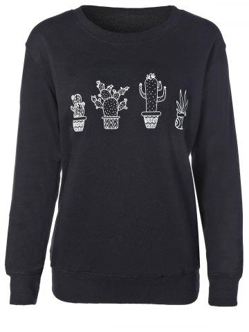 Trendy Cactus Fitting Sweatshirt
