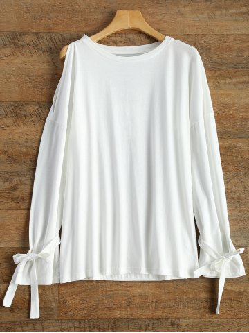 Shops Long Sleeve Top With Tie Detail WHITE 2XL