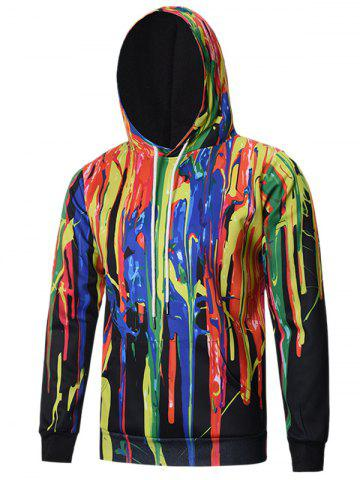 New Colorful Paint Dripping Hoodie COLORMIX 3XL