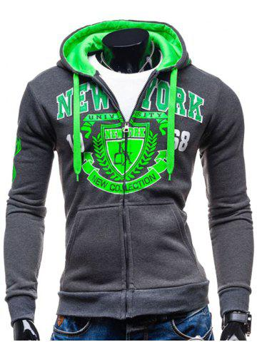 Hot Hooded Zip-Up Graphic Printed Hoodie