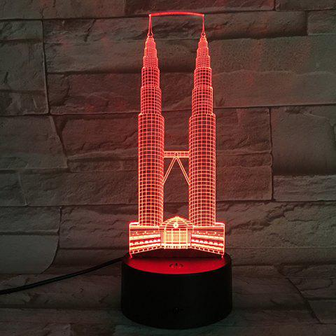 Fancy Color Changeable 3D Visual Double Towers Bedroom LED Night Light