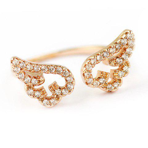 Buy Cute Rhinestone Angel Wings Finger Cuff Ring