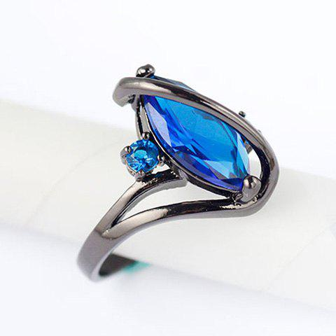 Sale Fake Gem Cuff Ring - ONE-SIZE BLUE Mobile
