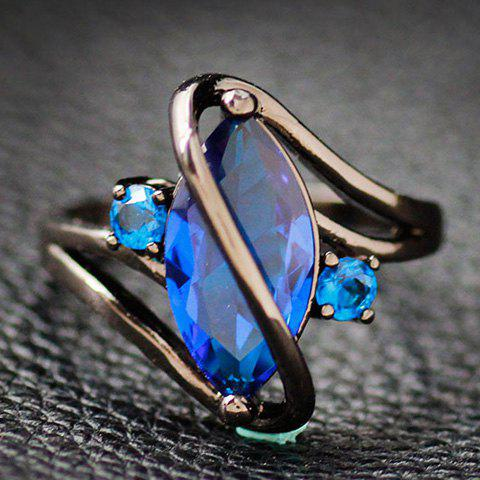 Shops Fake Gem Cuff Ring - ONE-SIZE BLUE Mobile