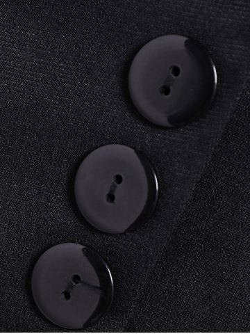 Affordable Asymmetric Lapel Single Breasted Blazer - L BLACK Mobile