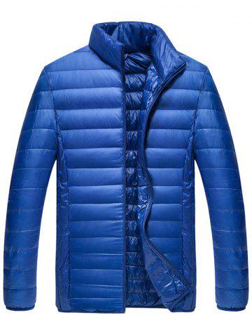 Weatherproof Packable Down Puffer Jacket - Blue - M