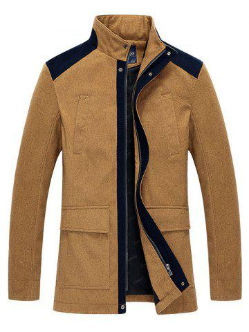 Outfits Stand Collar Zip-Up Color Splicing Jacket