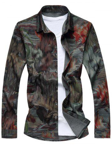 Best Buttoned Printed Long Sleeve Casual Shirt
