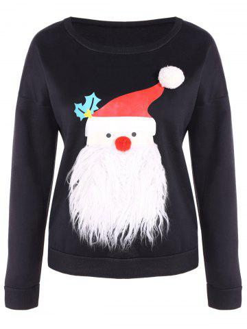 New Sherpa Fleece Christmas Sweatshirt - S BLACK Mobile