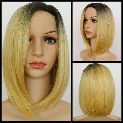 Online Ombre Medium Straight Side Parting Synthetic Wig COLORMIX