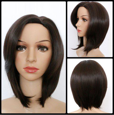Store Medium Natural Straight Side Parting Bob Synthetic Wig COLORMIX
