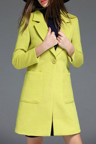 Pocket Panel Wool Blend Coat