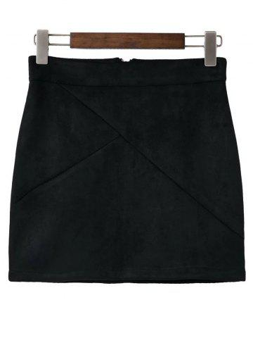 Discount Faux Suede Mini Skirt