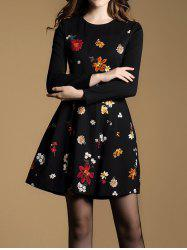 Tiny Floral Fit and Flare Dress