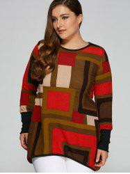 Geometric Loose Long Knitwear -