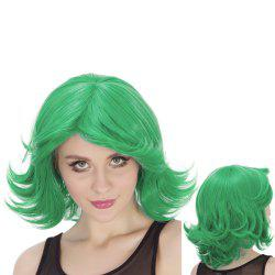 Medium Fluffy Side Parting Wavy Tail Upwards Synthetic Lolita Cosplay Wig