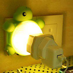 Creative Multifunctional USB Socket Turtle Night Light - YELLOW