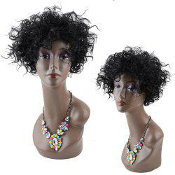 Impressive Short Towheaded Inclined Bang Curly Synthetic Wig