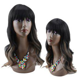 Long Full Bang Ombre Wavy Synthetic Wig -