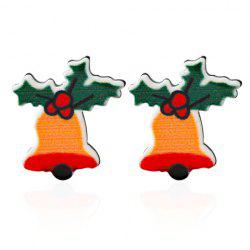 Christmas Bell Leaf Earrings - GREEN