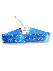 Polka Dot Choker Necklace - BLUE