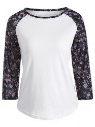Tiny Floral Raglan Sleeve T-Shirt