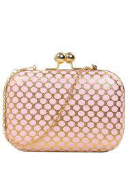 Kiss Lock Polka Dot Metal Evening Bag -