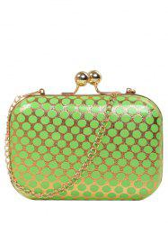 Kiss Lock Polka Dot Metal Evening Bag