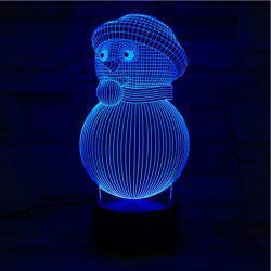 3D Visual Colorful Christmas Atmosphere Snowman LED Night Light - COLORFUL