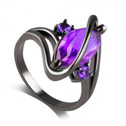 Fake Gem Cuff Ring - PURPLE