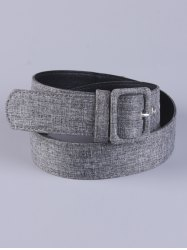 PU Leather Adjustable Pin Buckle Fabric Belt - GRAY