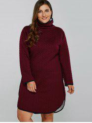Fleece Lined Plus Size Dress -