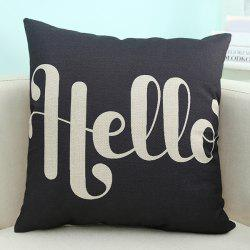 Wholesale Letter Printed Sofa Cushion Pillow Case - BLACK
