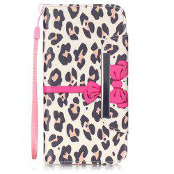 Smart Stand Leopard PU Wallet Card Slot Cover For iPhone 6S Plus -