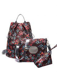 Color Spliced Print Zippers Backpack