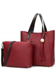Tassels Colour Spliced Stitching Tote Bag