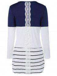 Color Block Lace Spliced T-Shirt