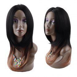 Long Middle Part Ombre Straight Synthetic Wig - COLORMIX