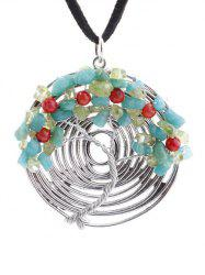 Spiral Chain Life Tree Pendant Necklace