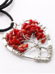 Hollow Heart Beaded Pendant Necklace