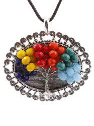 Handmade Multicolor Beaded Tree Necklace -